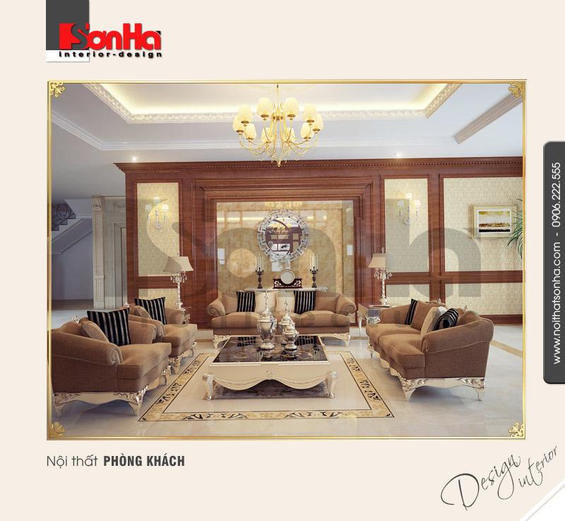 4.Mẫu nội thất phòng khách đồ cổ tinh tế