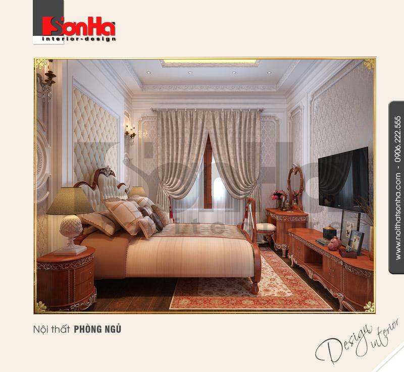 4.Mẫu nội thất phòng ngủ biệt thự cổ điển thiết kế hợp lý