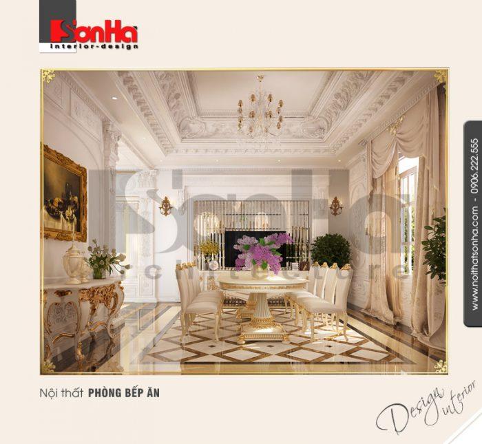 5.Thiết kế nội thất phòng bếp ăn cổ điển