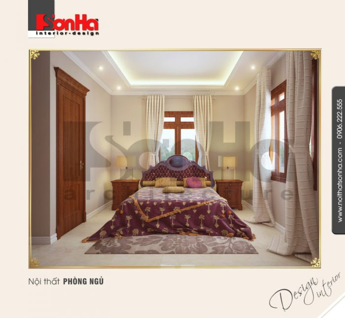 5.Thiết kế nội thất phòng ngủ biệt thự pháp