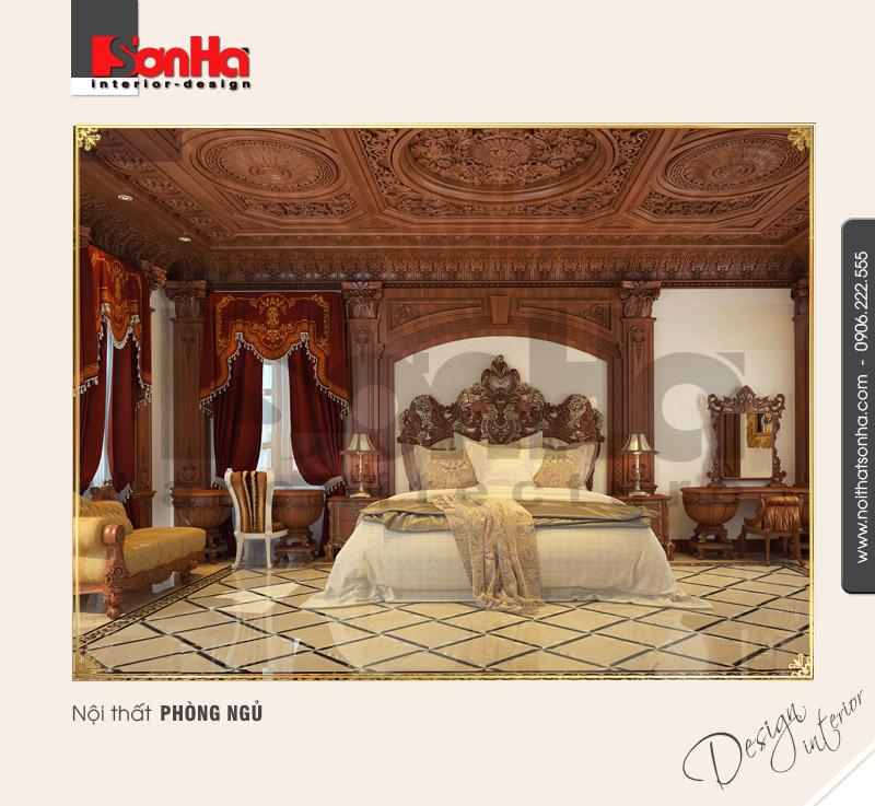 5.Thiết kế nội thất phòng ngủ kiểu pháp
