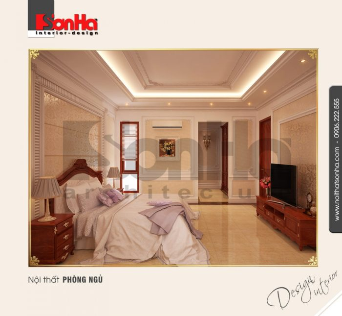 5.Thiết kế nội thất phòng ngủ phong cách cổ điển