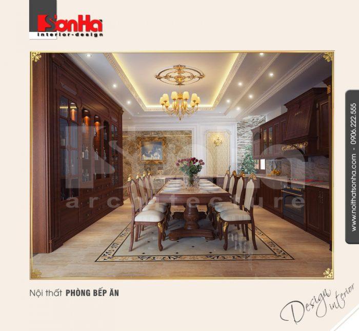 6.Mẫu nội thất phòng bếp ăn sang trọng