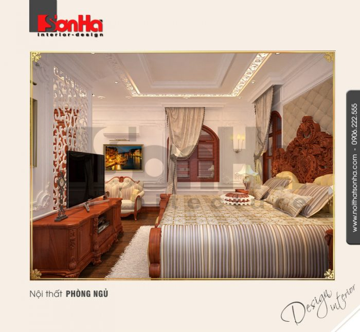 6.Mẫu nội thất phòng ngủ cổ điển đẹp