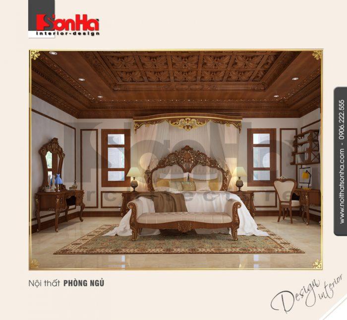 6.Mẫu nội thất phòng ngủ phong cách cổ điển