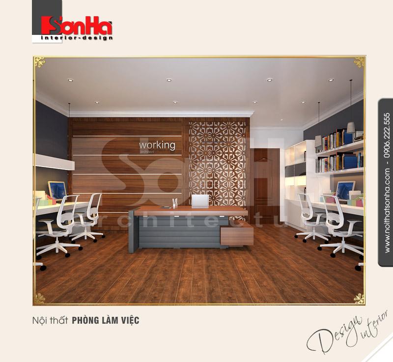 8.Thiết kế nội thất biệt thự kết hợp văn phòng làm việc đẹp