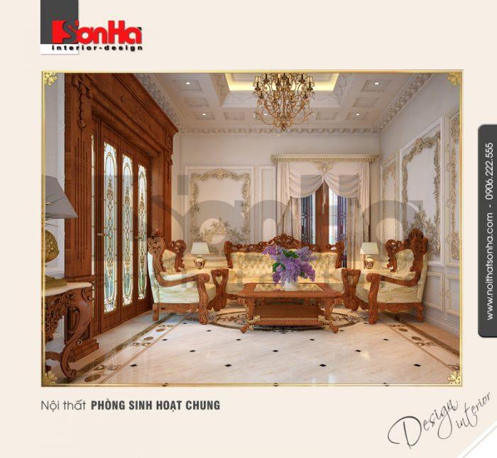9.Thiết kế nội thất phòng sinh hoạt chung sang trọng đẹp NT BTP 0094