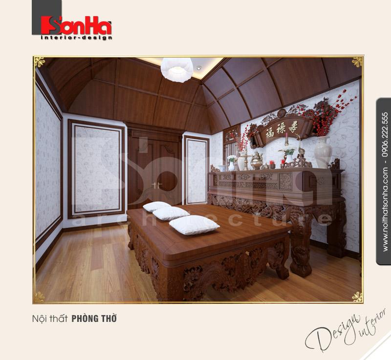 9.Thiết kế nội thất phòng thờ đẹp