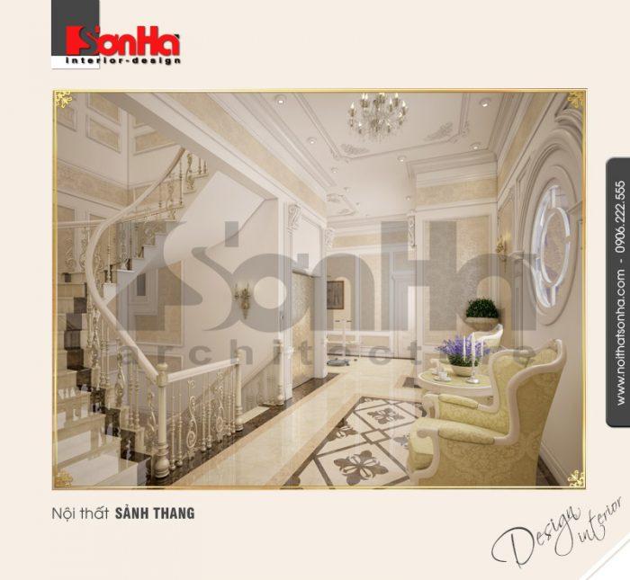 9.Thiết kế nội thất sảnh thang đẹp