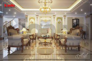 BIA Thiết kế nội thất biệt thự cổ điển kết hợp kinh doanh vàng bạc cao cấp tại Nam Định NT BTP 0064