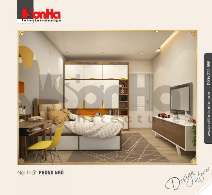 11 Thiết kế nội thất phòng ngủ 3 biệt thự khu đô thị vinhomes hải phòng