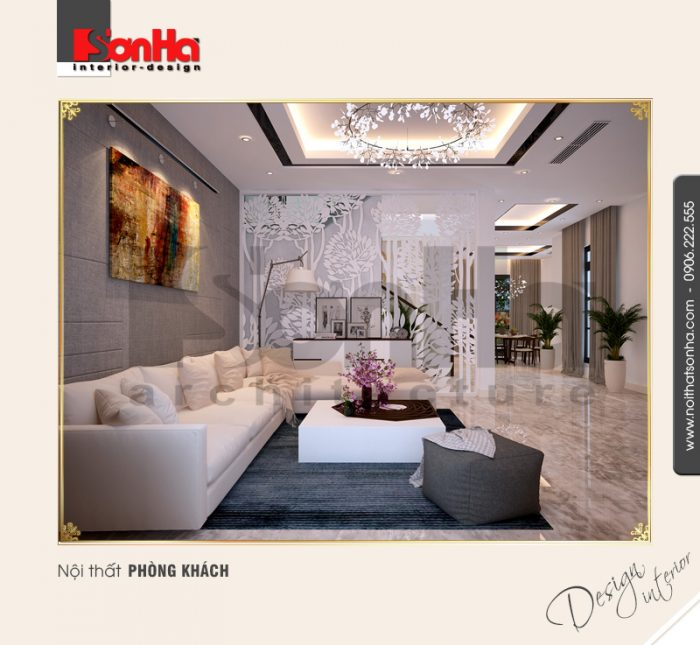 3 Thiết kế nội thất phòng khách biệt thự khu đô thị vinhomes hải phòng