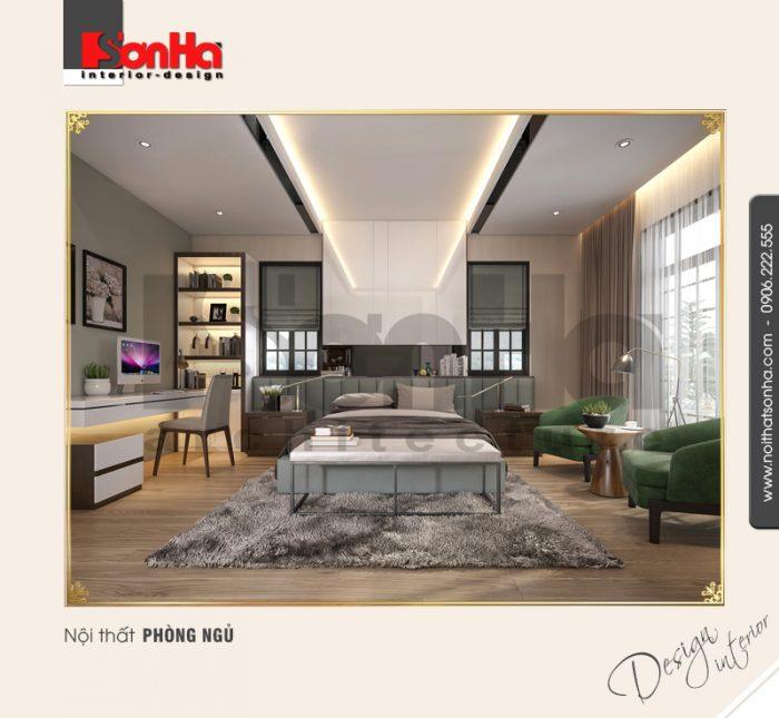 5 Thiết kế nội thất phòng ngủ master biệt thự khu đô thị vinhomes hải phòng