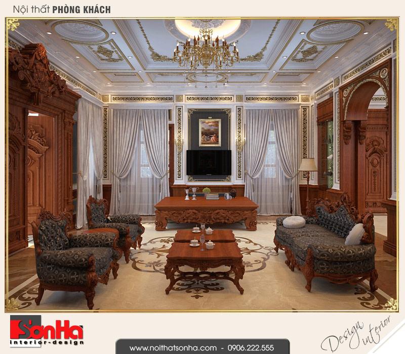 1 Mẫu nội thất phòng khách biệt thự pháp cổ điển tại cần thơ sh btp 0120