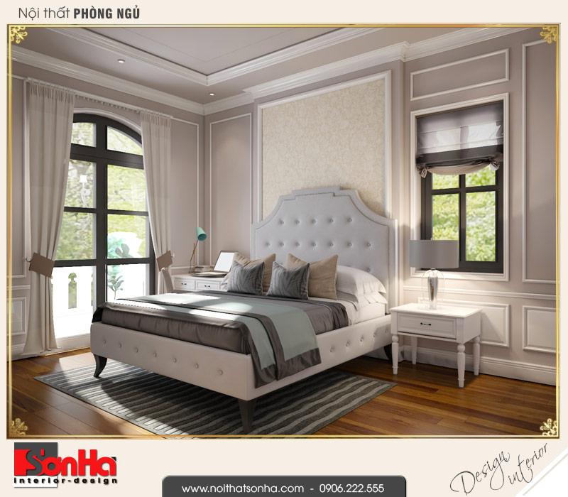 1.Thiết kế nội thất phòng ngủ 1 biệt thự tân cổ điển tại hải phòng