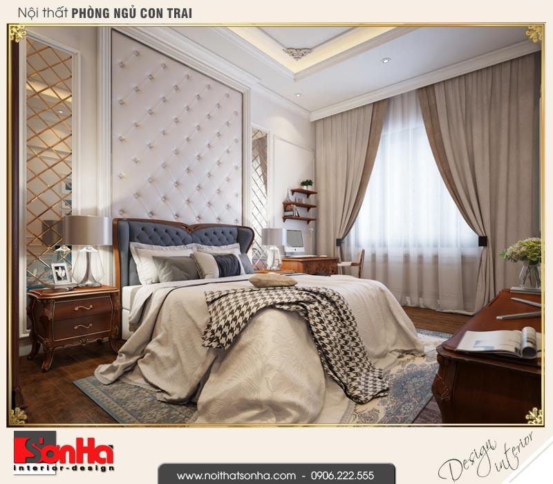 10 Thiết kế nội thất phòng ngủ con trai biệt thự tân cổ điển khu đô thị vinhomes hải phòng