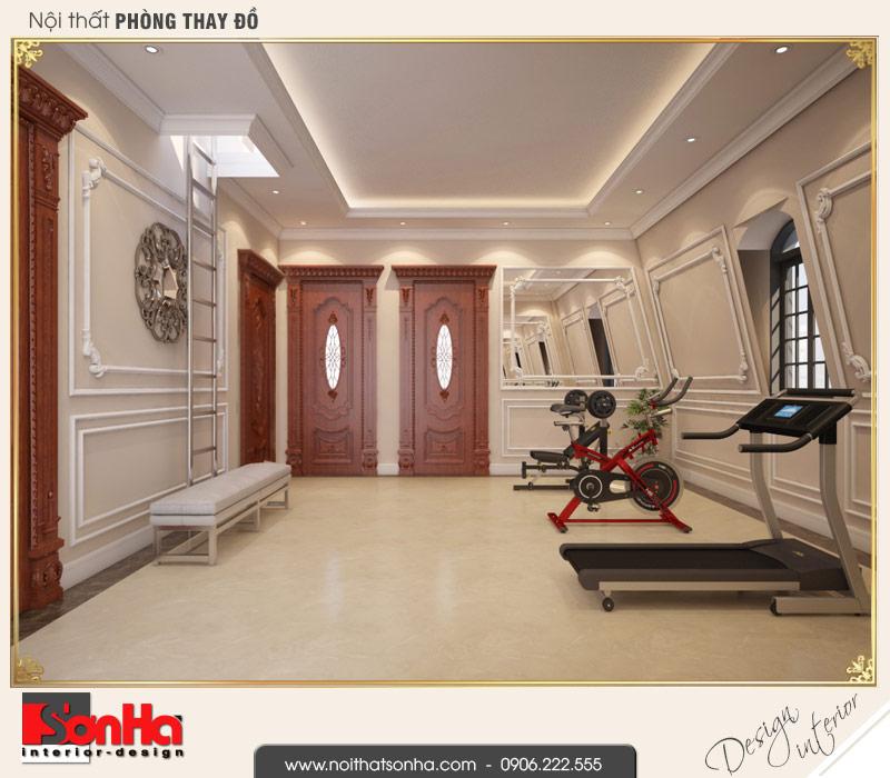 10 Thiết kế nội thất phòng tập biệt thự pháp đẹp tại cần thơ sh btp 0120