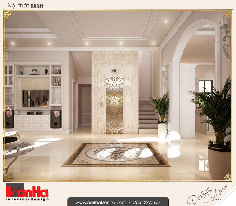 11.Thiết kế nội thất sảnh thang biệt thự tân cổ điển khu đô thị vinhomes imperia hải phòng