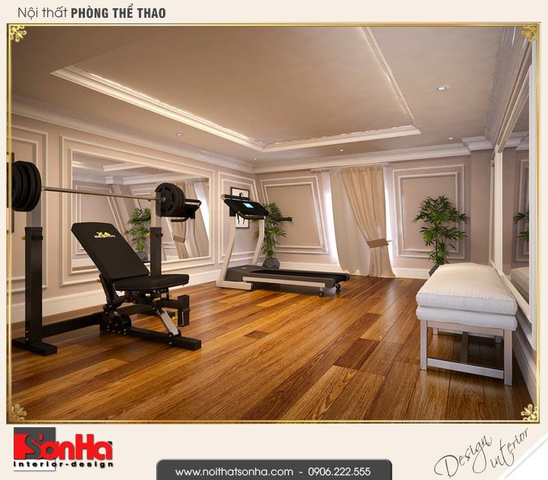 12 Thiết kế nội thất phòng thể thao biệt thự tân cổ điển khu đô thị vinhomes hải phòng