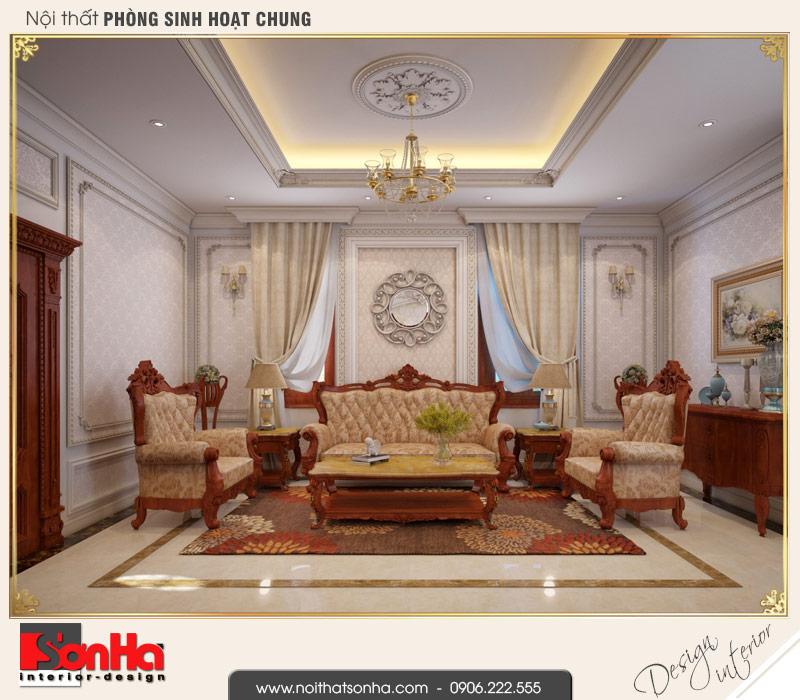 13 Thiết kế nội thất phòng sinh hoạt chung biệt thự pháp đẹp tại cần thơ sh btp 0120