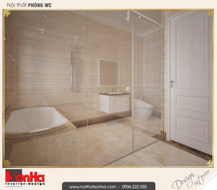 13.Thiết kế nội thất wc biệt thự tân cổ điển khu đô thị vinhomes imperia hải phòng