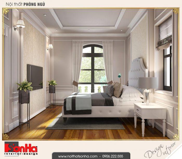 2.Mẫu nội thất phòng ngủ 1 biệt thự tân cổ điển biệt thự khu đô thị vinhomes imperia hải phòng