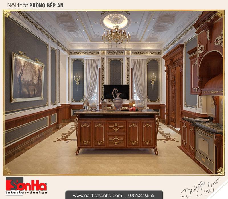 2 Thiết kế nội thất phòng bếp biệt thự pháp đẹp tại cần thơ sh btp 0120