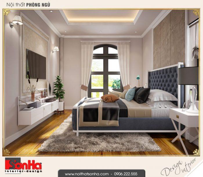 3.Thiết kế nội thất phòng ngủ 2 biệt thự tân cổ điển khu đô thị vinhomes imperia hải phòng