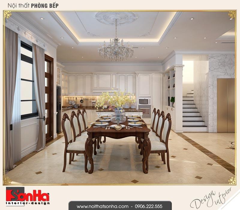 4 Thiết kế nội thất phòng ăn biệt thự tân cổ điển khu đô thị vinhomes hải phòng