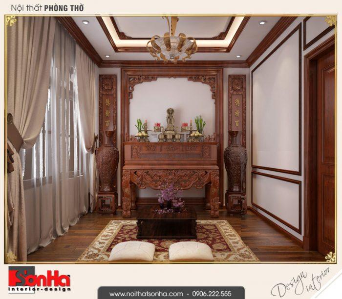6.Mẫu nội thất phòng thờ biệt thự tân cổ điển khu đô thị vinhomes imperia hải phòng