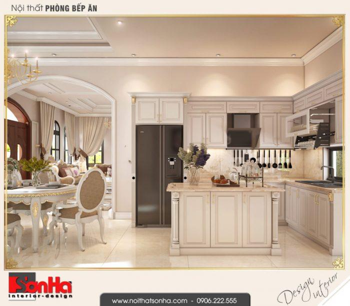 7.Thiết kế nội thất phòng bếp ăn biệt thự tân cổ điển khu đô thị vinhomes imperia hải phòng