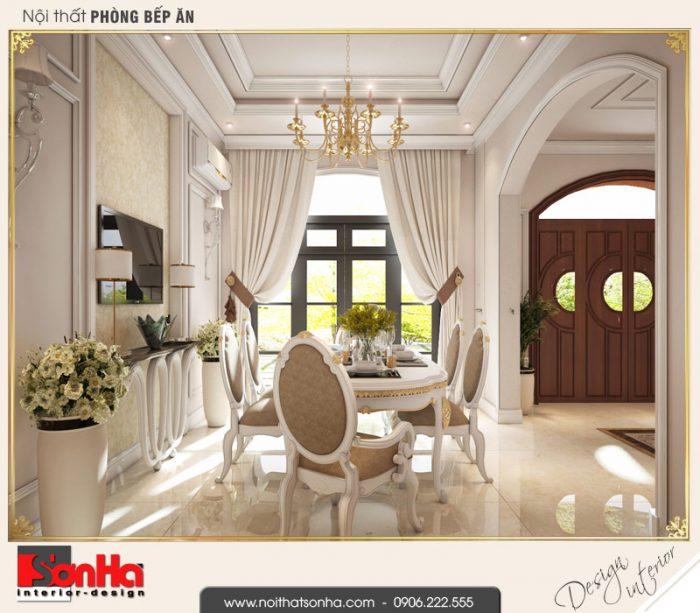 8.Mẫu nội thất phòng bếp ăn biệt thự tân cổ điển khu đô thị vinhomes imperia hải phòng