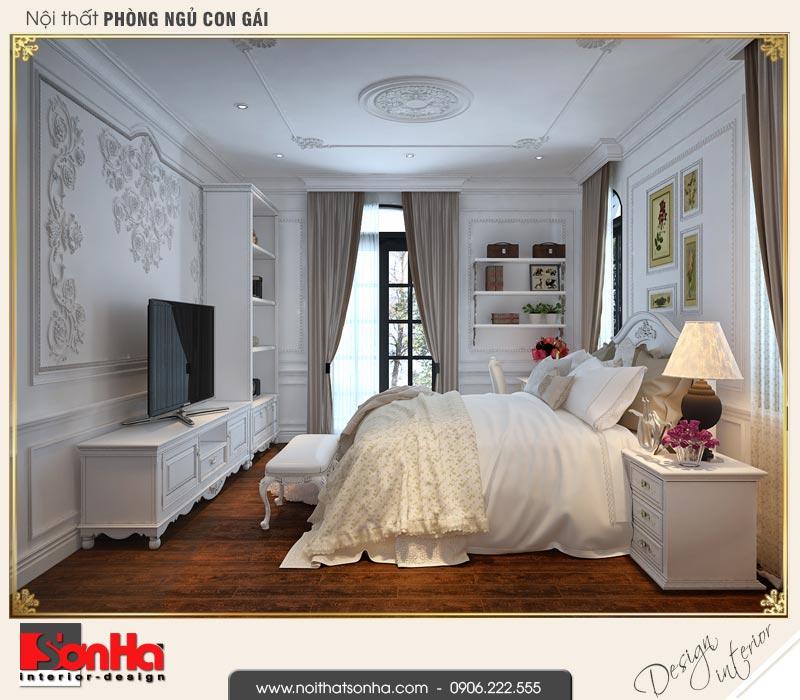 8 Thiết kế nội thất phòng ngủ con gái biệt thự tân cổ điển khu đô thị vinhomes hải phòng