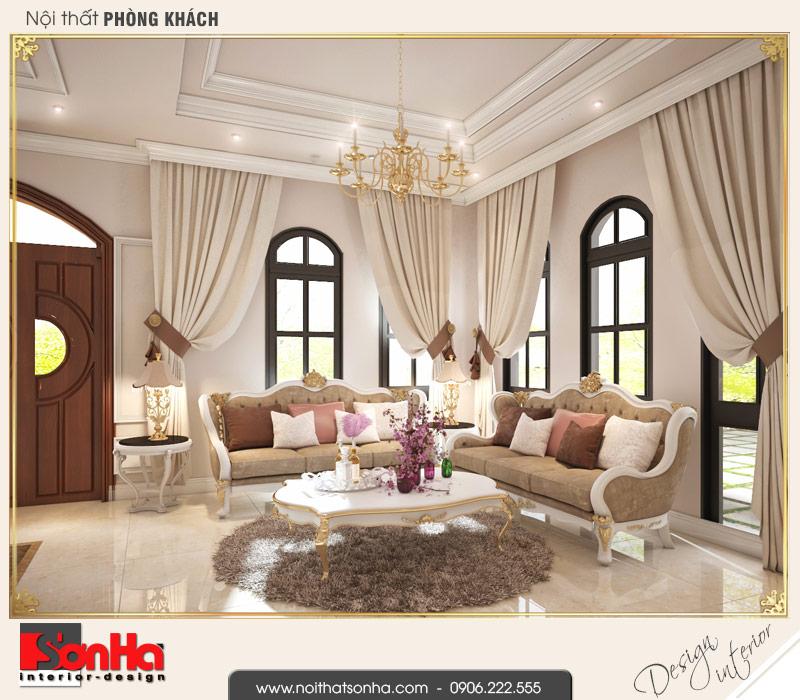 9.Thiết kế nội thất phòng khách biệt thự tân cổ điển khu đô thị vinhomes imperia hải phòng