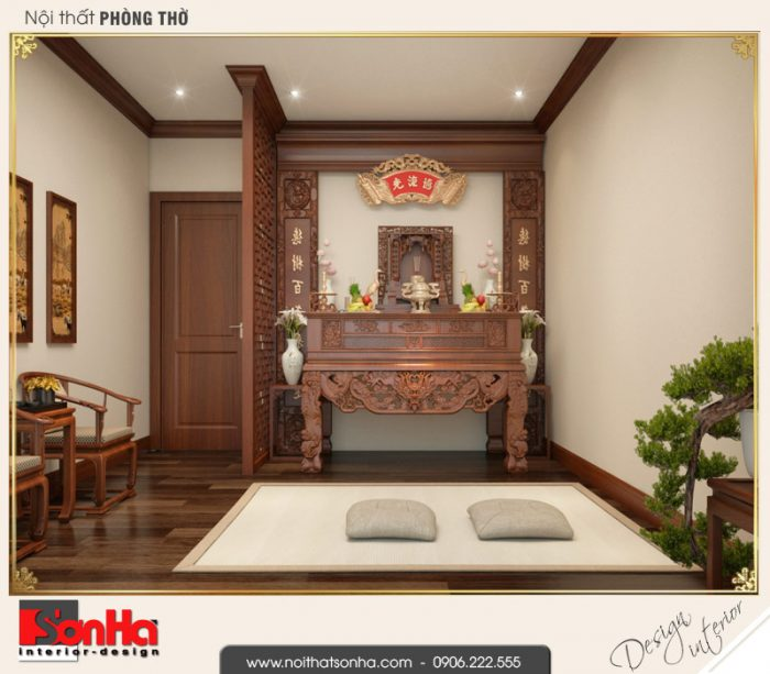 10 Mẫu nội thất phòng thờ biệt thự tân cổ điển khu đô thị vinhomes hải phòng