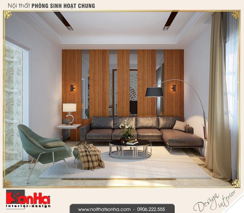 11 Mẫu nội thất phòng sinh hoạt chung nhà ống hiện đại đẹp tại quảng ninh