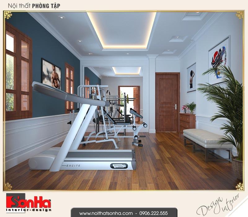 11 Mẫu nội thất phòng thể thao nhà ống pháp 4 tầng tại nam định sh nop 0164