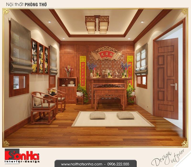 12 Thiết kế nội thất phòng thờ nhà ống pháp đẹp tại nam định sh nop 0164