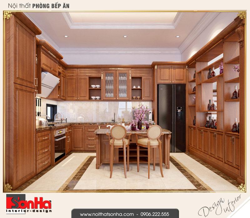 2 Mẫu nội thất phòng bếp biệt thự tân cổ điển khu đô thị vinhomes hải phòng