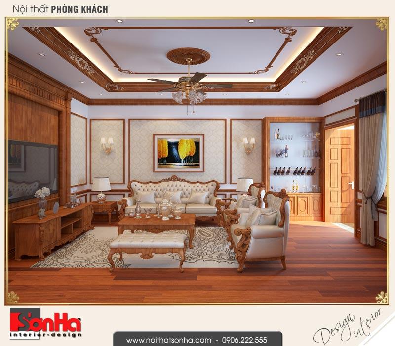 2 Thiết kế nội thất phòng khách nhà ống cổ điển đẹp tại nam định sh nop 0164
