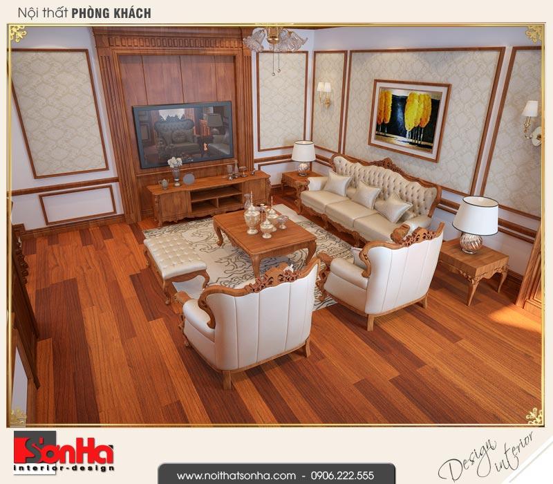 3 Mẫu nội thất phòng khách nhà ống pháp 4 tầng tại nam định sh nop 0164