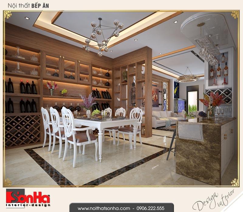 3 Nội thất phòng bếp ăn nhà ống hiện đại đẹp tại quảng ninh