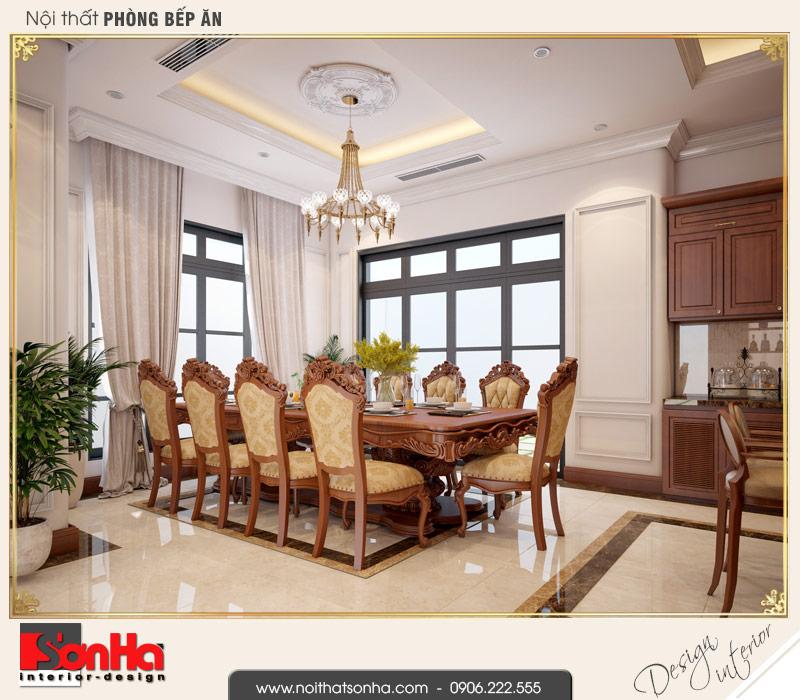 3 Thiết kế nội thất phòng ăn biệt thự tân cổ điển khu đô thị vinhomes hải phòng