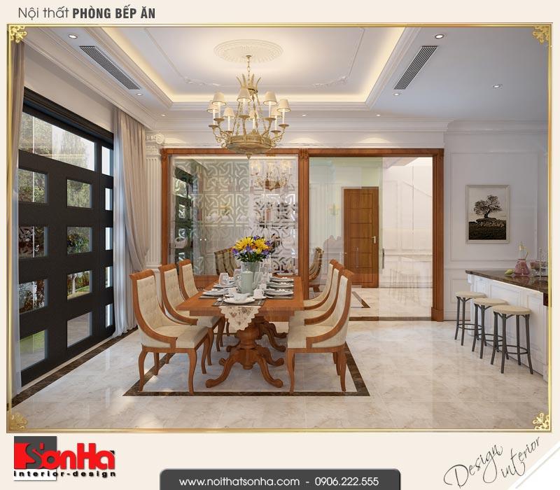 4 Mẫu nội thất phòng bếp ăn biệt thự tân cổ điển khu đô thị vinhomes hải phòng