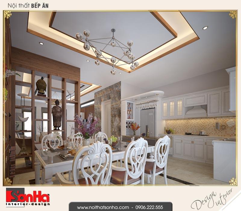 4 Thiết kế nội thất phòng bếp ăn nhà ống hiện đại đẹp tại quảng ninh