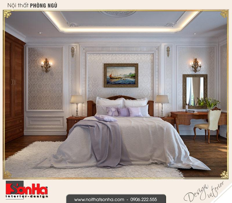 5 Thiết kế nội thất phòng ngủ bố mẹ biệt thự tân cổ điển khu đô thị vinhomes hải phòng