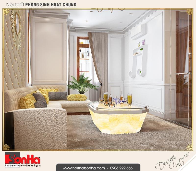 5 Thiết kế nội thất phòng sinh hoạt chung biệt thự tân cổ điển khu đô thị vinhomes hải phòng