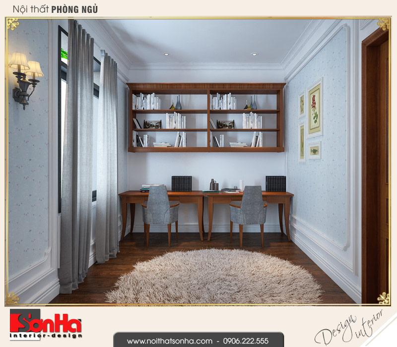 7 Thiết kế nội thất phòng ngủ các con biệt thự tân cổ điển khu đô thị vinhomes hải phòng