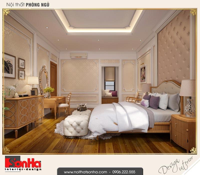 7 Thiết kế nội thất phòng ngủ vip biệt thự tân cổ điển khu đô thị vinhomes hải phòng