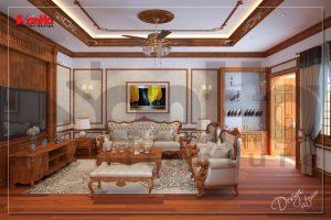 BÌA thiết kế nội thất nhà ống cổ điển đẹp 4 tầng tại nam định sh nop 0164